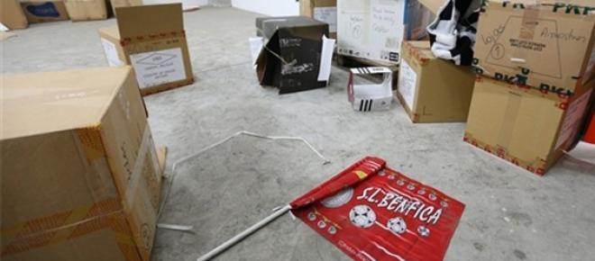 A bandeira resistiu, mesmo sendo do Benfica...