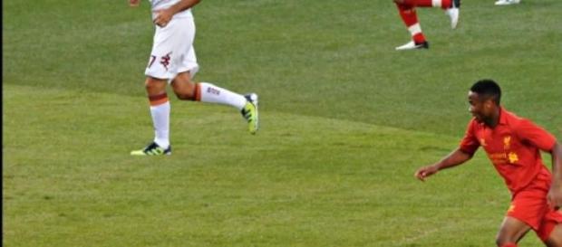 Sterling durante un partido contra La Roma