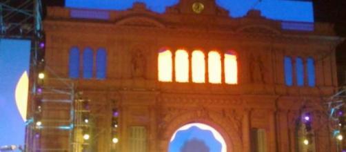 Escenario de recitales en Casa de Gobierno