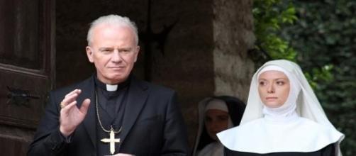 Vescovo di Villalba e Suor Veronica.