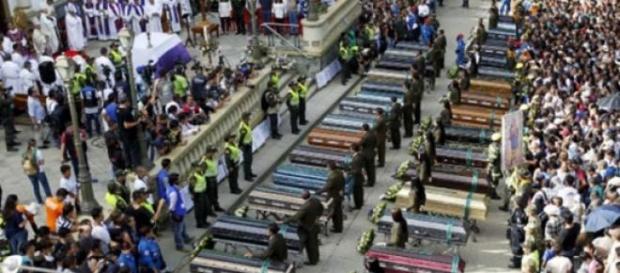 La ville de Salgar a effectué les funérailles.