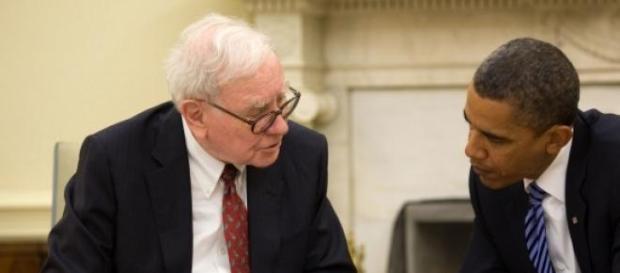 Warren Buffet şi Barack Obama în Biroul Oval