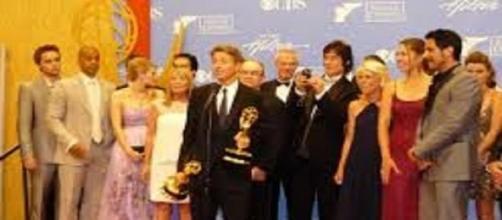 Il cast di Beautiful durante una premiazione.