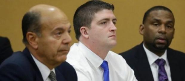 Michael Brelo lors des audiences de son procès.