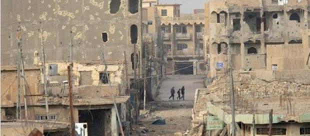 Ramadi a seguito dello scontro a fuoco