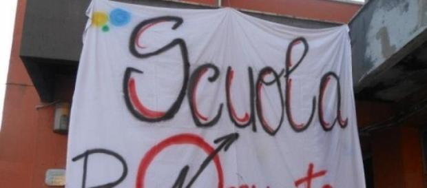 Scuola occupata contro il DDL