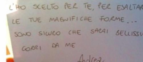 Andrea Melchiorre scrive alla sua bella