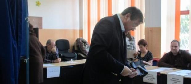 Frunzăverde votând în turul doi al alegerilor