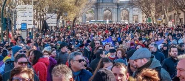 La 'marcha del cambio', en Madrid