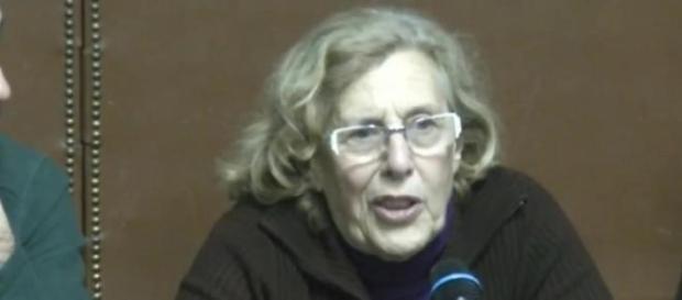 Manuela Carmena cuando presentaba su candidatura.