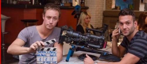 Eduardo y Hernán en la grabación de su proyecto