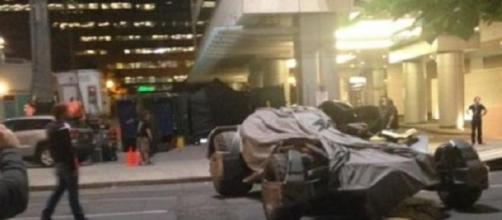 El Batmóvil en el rodaje de 'Suicide Squad'