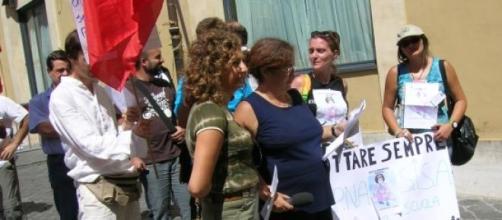 Esponenti M.i.d.a. A.d.p.n.a sit - in del 2008