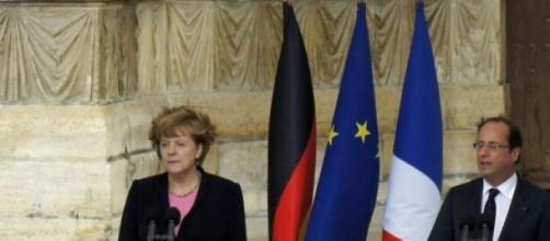Merkel e Hollande al Bundestag