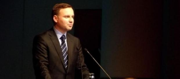 Andrzej Duda przemawia do wyborców