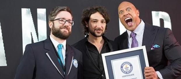 "Dwayne ""The Rock"" Johnson sets world record"