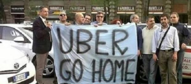 I tassisti milanesi contro Uber