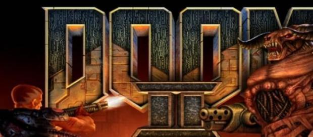 """Portada del título original """"Doom II"""""""