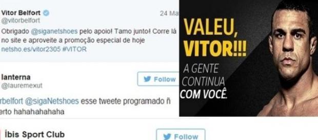 Vitor Belfort faz merchan e vira piada no Twitter