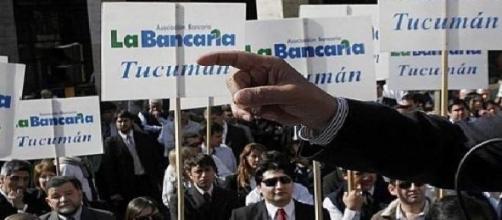 Concentración de bancarios en Tucumán