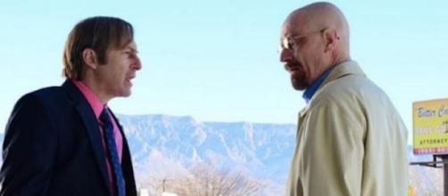 Saul e Walter in una scena di Breaking Bad.