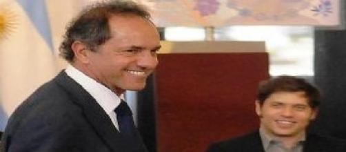 Scioli y el ministro Kicillof