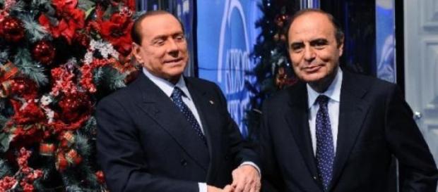 Berlusconi e Vespa prima di una puntata