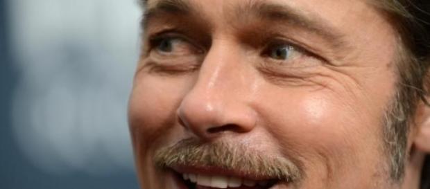 Brad Pitt en uno de sus actos públicos