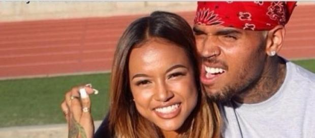 Chris Brown und Karrueche Tran Arm in Arm.