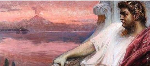 'Nerón en la Bahía', óleo de Jan Styka