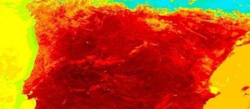Temperaturas en la ola de calor de 2004 - NASA