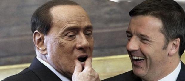 Berlusconi e Renzi a confronto