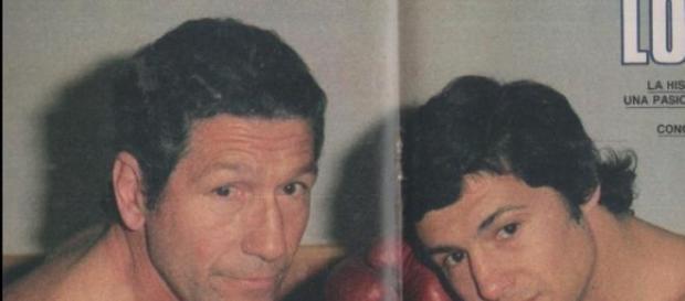 Dos generaciones, padre e hijo, grandes boxeadores