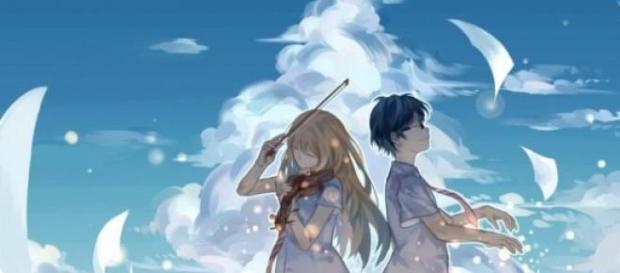 Los protagonistas de la historia, Kaori y Kousei