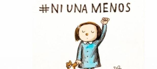 """Slogan de la campaña """"Ni una Menos"""""""