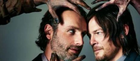 Rick y Daryl, lideres de los sobrevivientes.