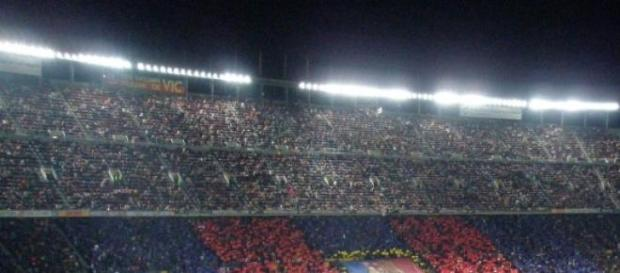 El Camp Nou en un partido