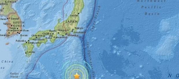 Epicentro del seísmo en Japón - USGS