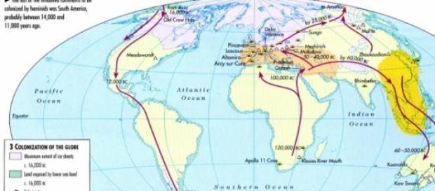 Rutele de migraţie a speciei Homo Sapiens