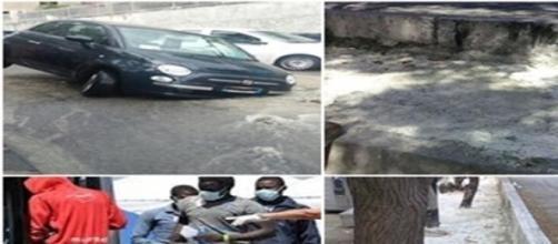 Immagini di degrado ambientale e sociale