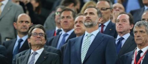 Mas junto al rey de España este sábado