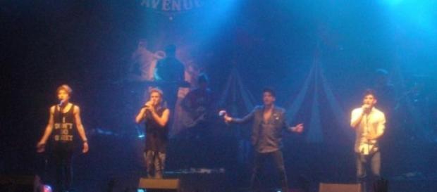 Durante el concierto de Auryn