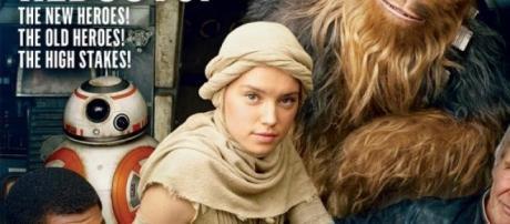 Tapa de Vanity Fair con Han Solo y Chewaca