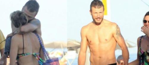 Fernanda Lima e Rodrigo Hilbert a deixar a praia