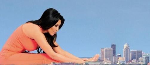 Kim Kardashian en una campaña publicitaria
