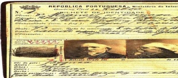 Bilhete de Identidade de Manuel Arriaga