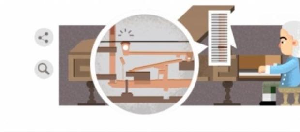 Google Doodle z Bartolomeo Cristoforim