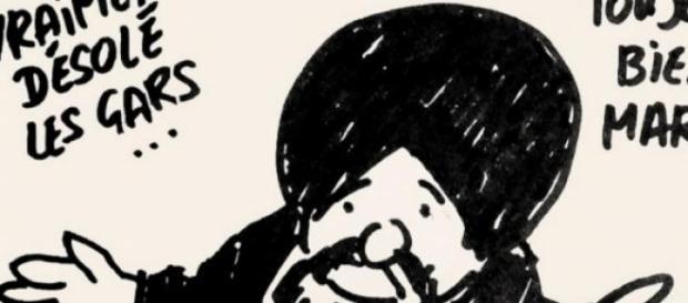 Una vignetta che rappresenta il profeta Maometto