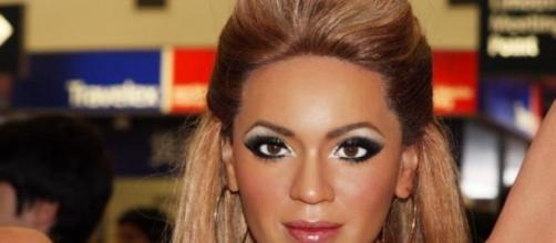 Beyoncé en uno de sus actos públicos