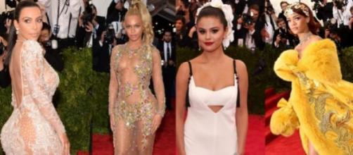 Kim Kardashian, Beyoncé, Selena e Rihanna